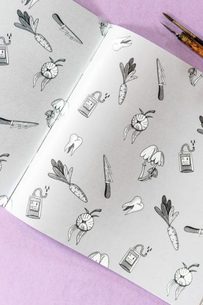 Artbook Inktober 2019 «Cimetière et Monstres»