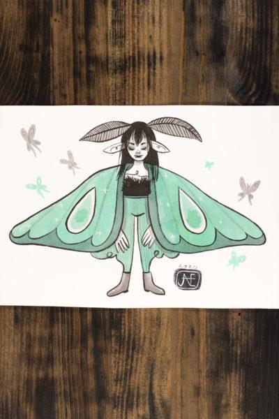 Papillon de nuit Vamp'ink original A5