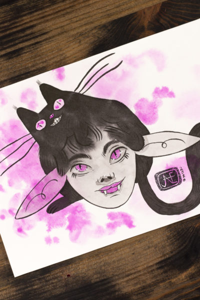 Chat noir Vamp'ink original A5