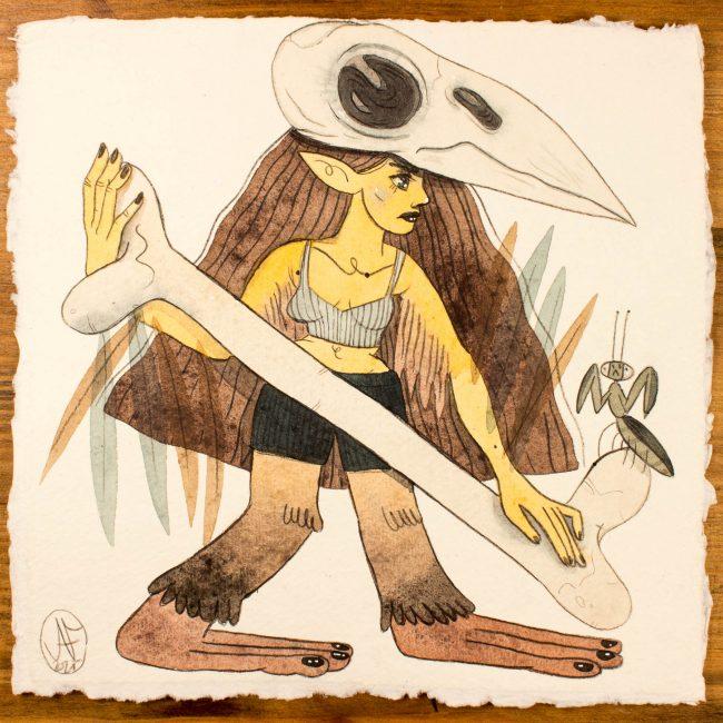 Illustration originale Mermay Caput Mortuum