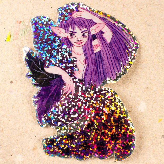 Sticker Mermay Lilas