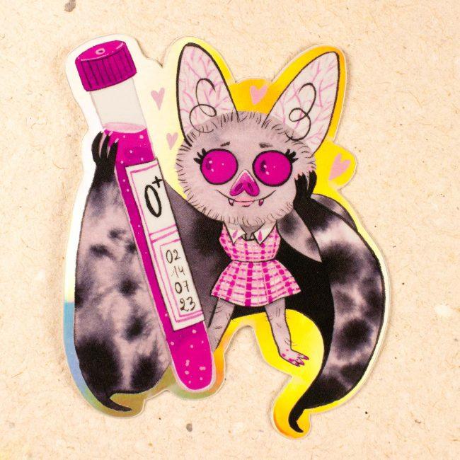 Sticker Holographique Chauve Souris Voleuse