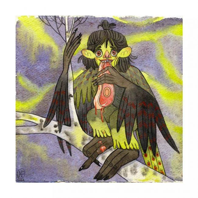 Illustration originale Bleu Boréal
