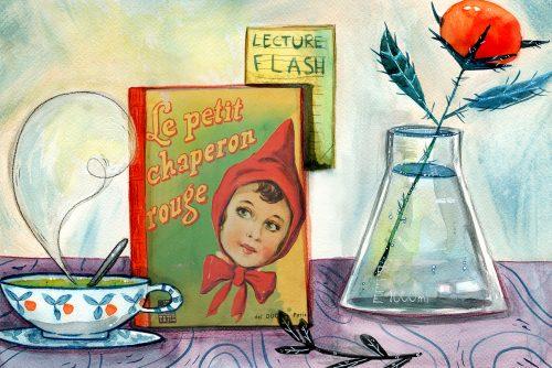 Mockup Illustré pour la rubrique lecture de Simonae.Aquarelle.